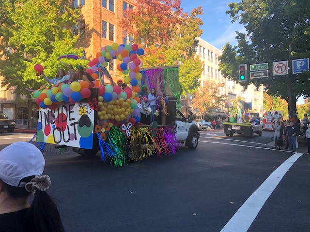 Inside Out Float on 4th St.